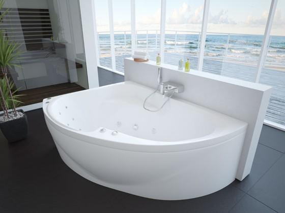 AQUATEK. Акриловая ванна. Альтаир. 160x120 L/R. Асимметричная. Белый.