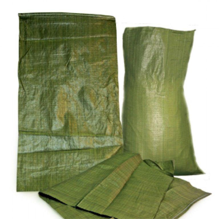 Мешки. Для строительного мусора. 55*95. Зеленый. Полипропиленовый.