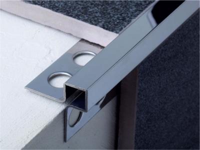Профиль. Нержавеющая сталь. Наружный угол. SB020-10H. 10мм. 2,7 м. Серебро Глянец. Браш.