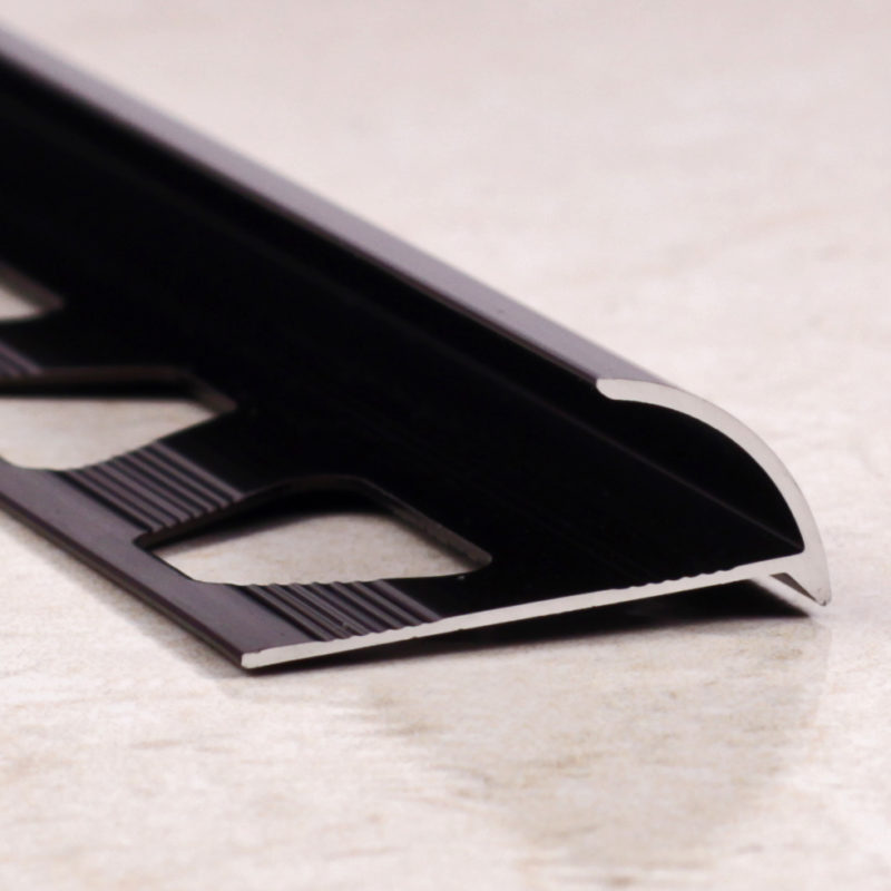 Алюминиевая раскладка. Наружный угол. Анодированный. от 6 до 12мм