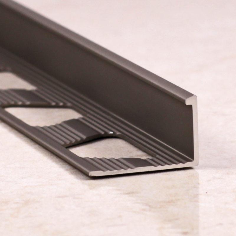Алюминиевый Г-образный профиль под керамическую плитку. 6-12мм