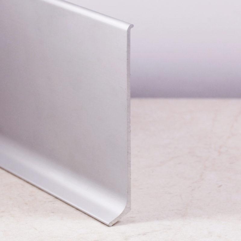 Алюминиевый плинтус L-40. Серебро матовое. 2,5м/3,0м