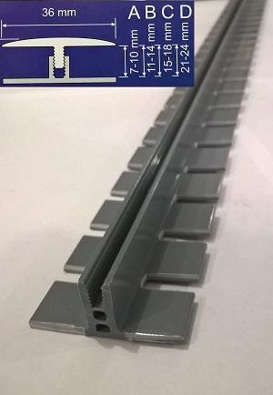 Монтажная рейка для установки эластичного профиля Степ Флекс.