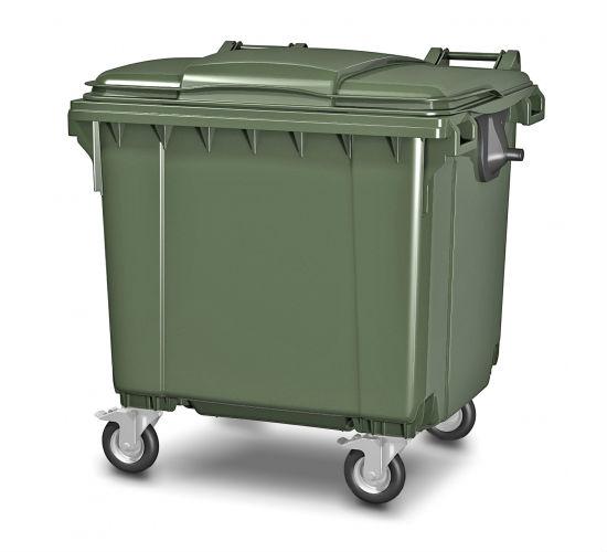 ЕвроКонтейнер 1100 л. Контейнер для мусора 1100 л. Пластиковый. На 4-х колесах. Россия