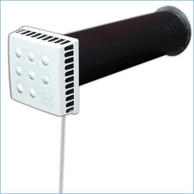 Приточный клапан КИВ-125. Клапан Инфильтрации Воздуха. Квадратный.