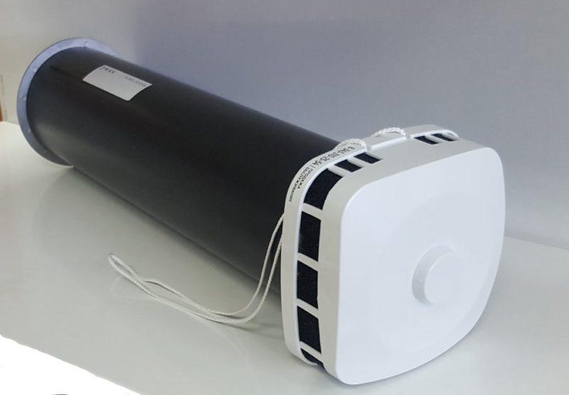 Клапан приточный КИВ 125. Клапан Инфильтрации Воздуха. Округленные края.