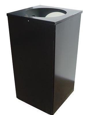 Урна для мусора. 80 литров. Квадро-24. Черный.