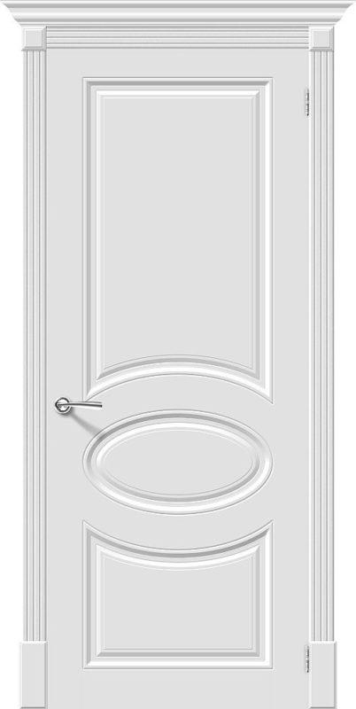 Скинни-20 Whitey глухая. Дверь. Межкомнатная. Крашенная. Эмаль. Белая. 600, 700, 800, 900мм.