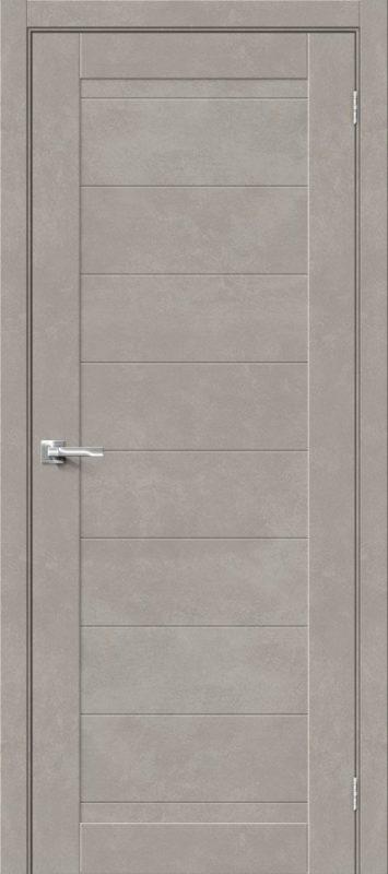 Дверь. ДП HF. Браво-21. Gris Beton. Межкомнатная. Эко Шпон. 600, 700, 800, 900мм.