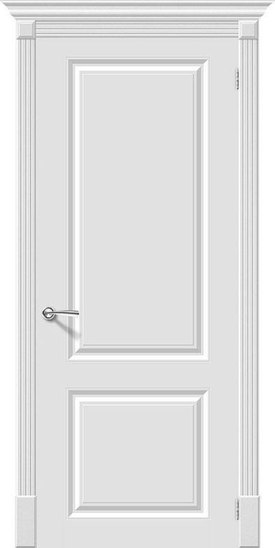 Скинни-12. Whitey. глухая. Дверь. Межкомнатная. Крашенная. Эмаль. Белая. 600, 700, 800, 900мм.